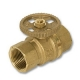 1343 - Olive Compression x Nut & Tail WaterMarked DZR Brass Ball Valve