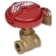 1245 - Zetco WaterMarked DZR Brass 90° Ball Valve M&F Lockable Handle