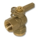 1070 - Flare x Nut & Tail WaterMarked DZR Brass Ball Valve