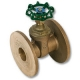 1244 - Zetco WaterMarked DZR Brass 90° Ball Valve F&F Lockable Handle