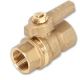 1132 - Zetco AGA Approved Brass Ball Valve M&F T Handle