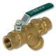 1249 - Zetco WaterMarked DZR Brass 90° Ball Valve FI x Flared Lilac Lever Handle
