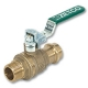 1004 - Isis® Heavy Pattern WaterMarked & AGA Approved DZR Brass Ball Valve M&F T Handle